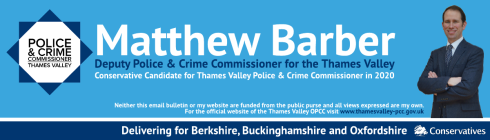 Logo for the link to the Police and Crime commissioners latest newsletter