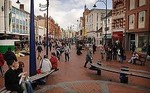 Image of Broad Street with shoppers in Reading