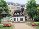 Image of the Maiwand Lion in Forbury Gardens Reading
